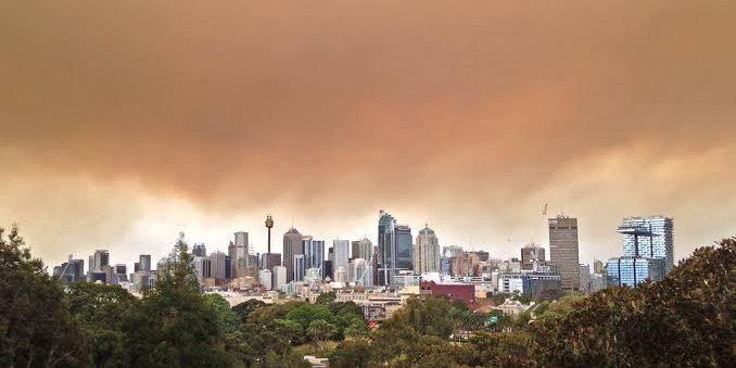 Sydney under smoke