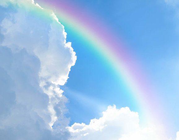 rainbow, rain, clouds, colours