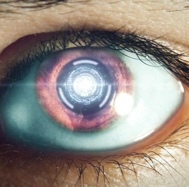 Image of an eye, future, lazer