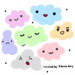 Clouds, Digital, Doodle,