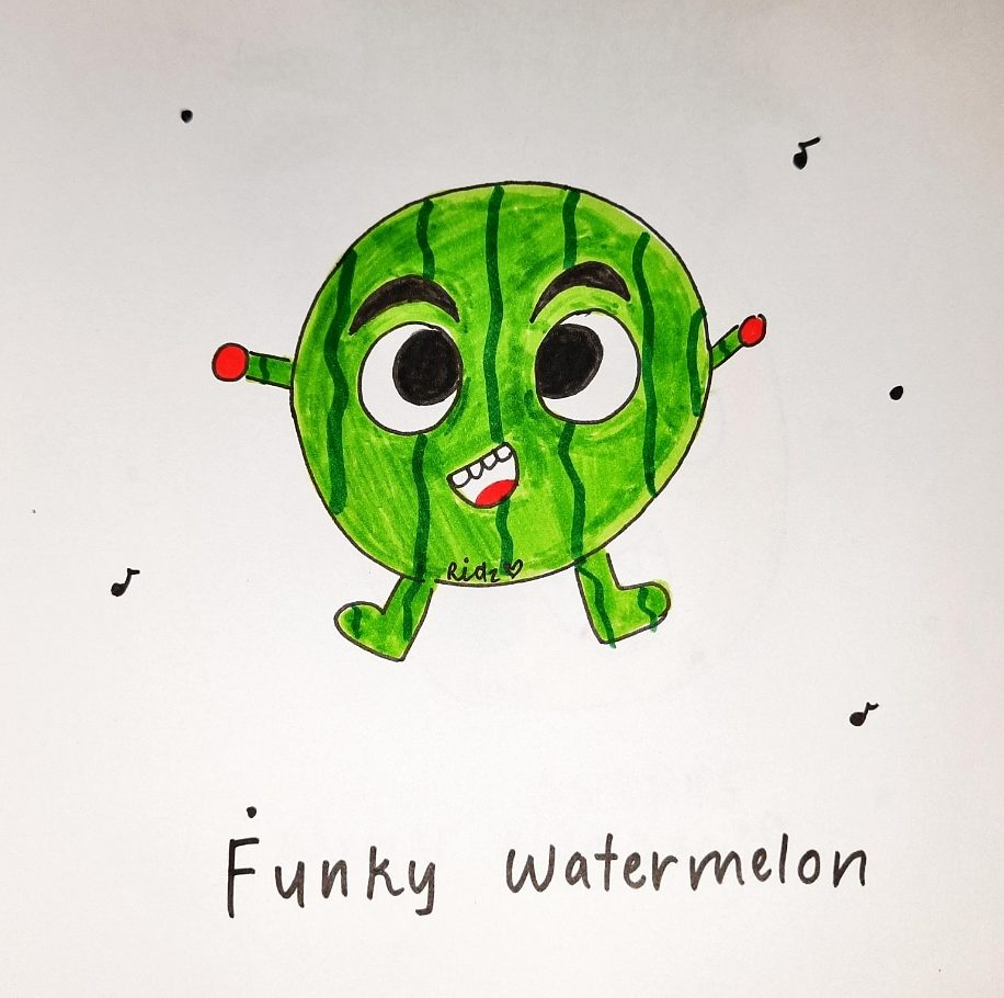 Image depicting Watermelon, doodle