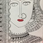 Image depicting mandala art, monochrome, doodle, sketch, woman