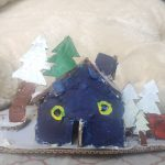 Image depicting snow clad house