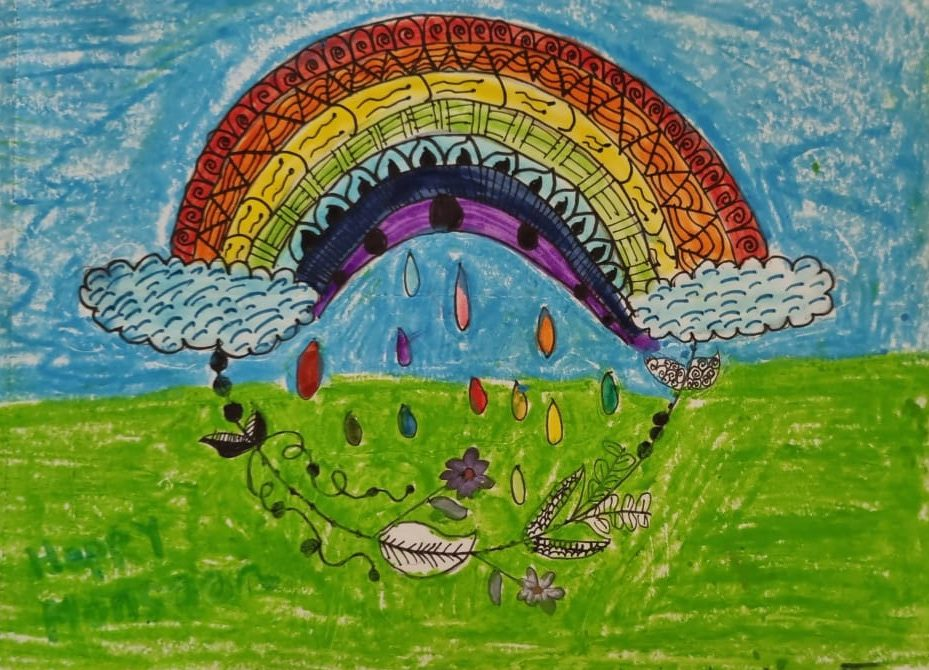 Image depicting rainbow, monsoon