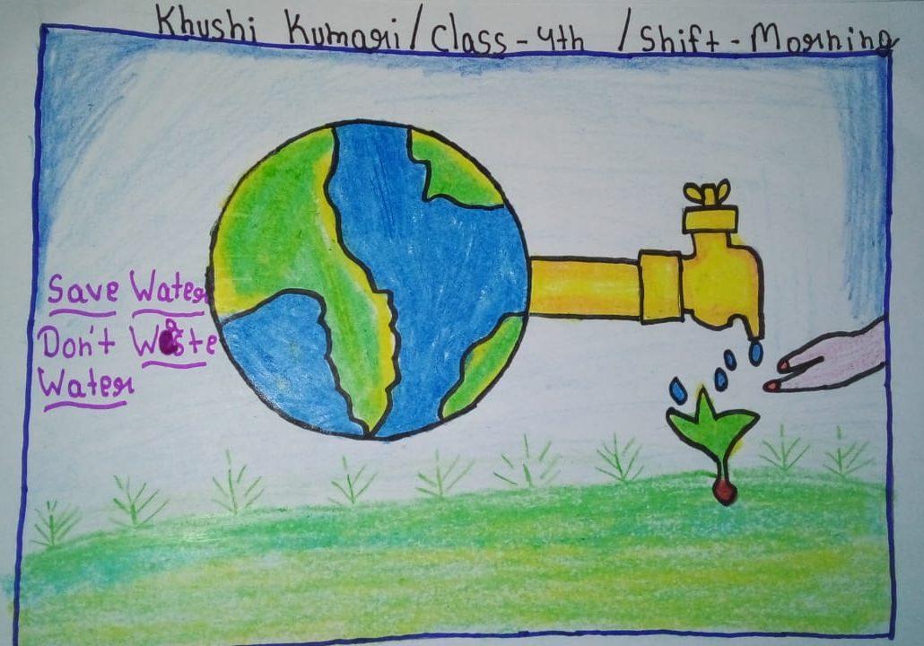 Image depicting save water