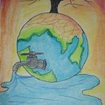 Image reflecting save water