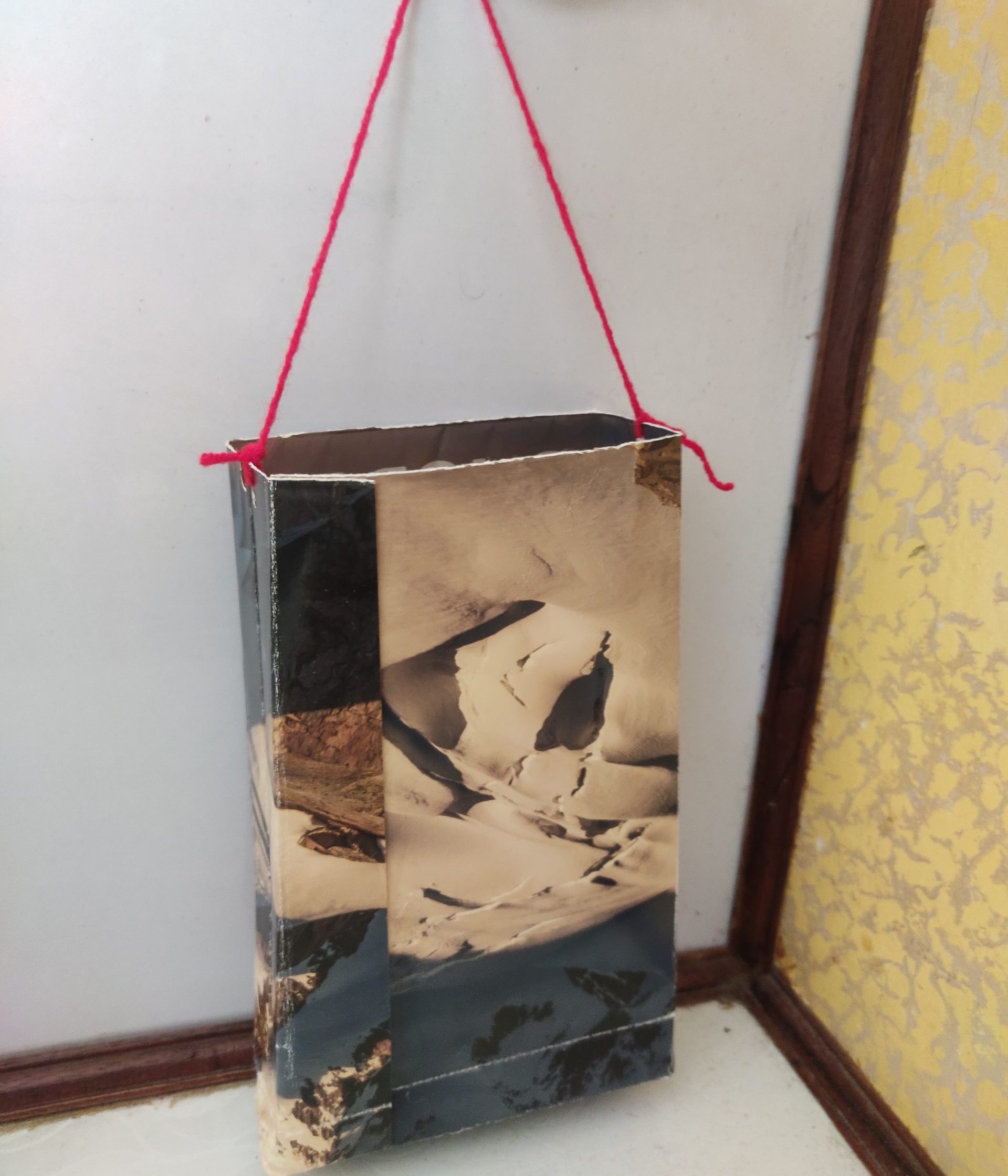 Image depicting recycled paperbag