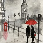 Image depicting a rainy day in london