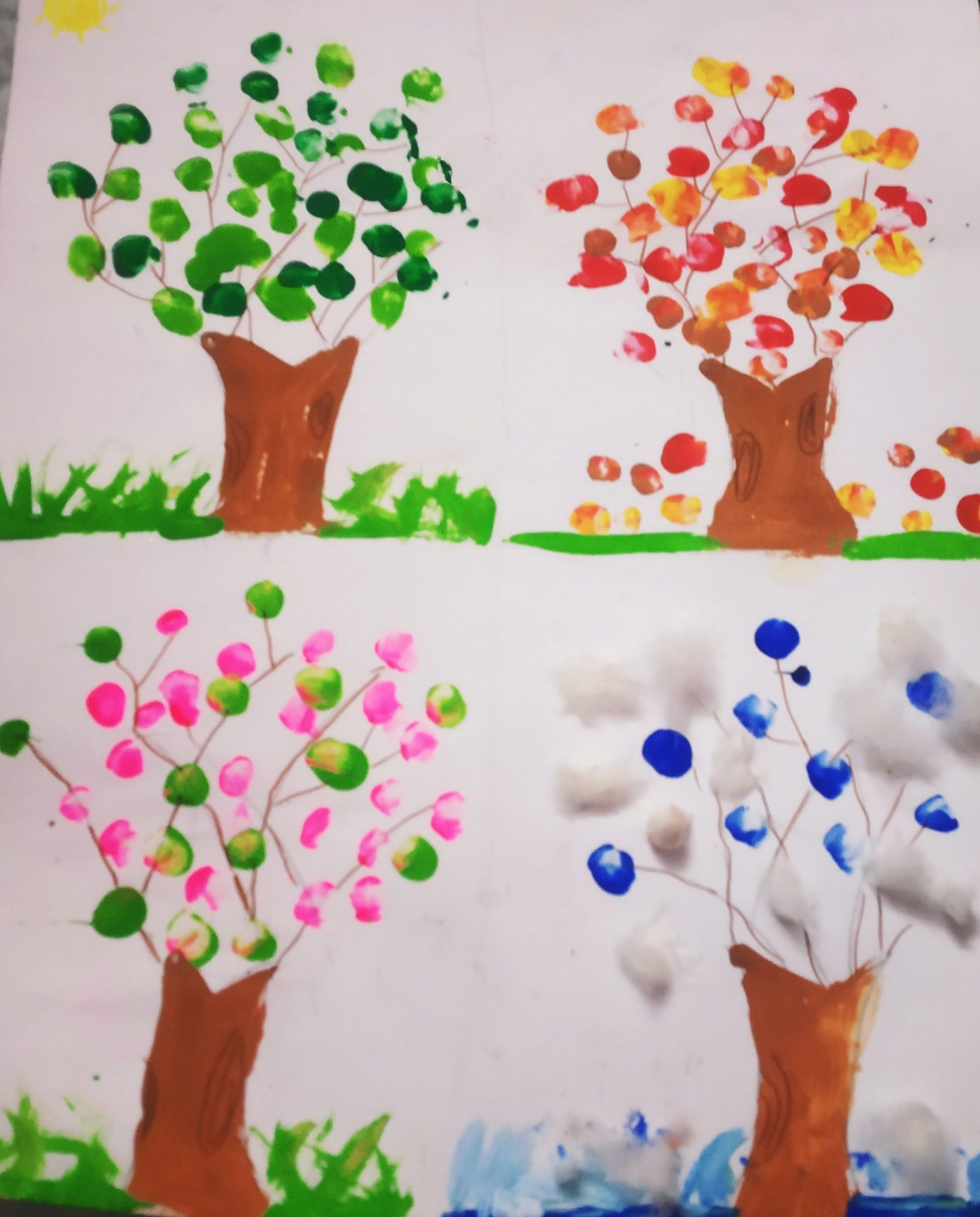 Image depicting colourful trees
