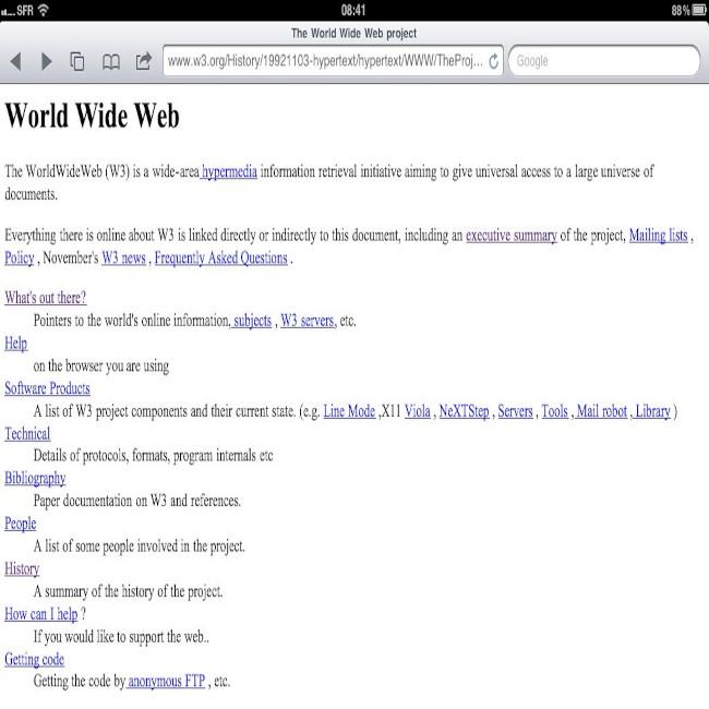First Webpage still running