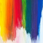 Image depicting rainbow art
