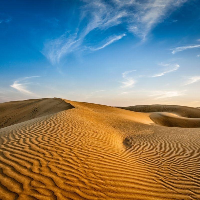 Image depcting Thar Desert has the world's largest geoglyph