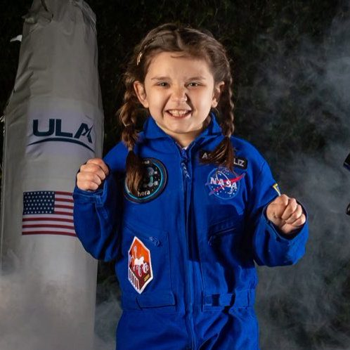 Image depicting girl, mad about space