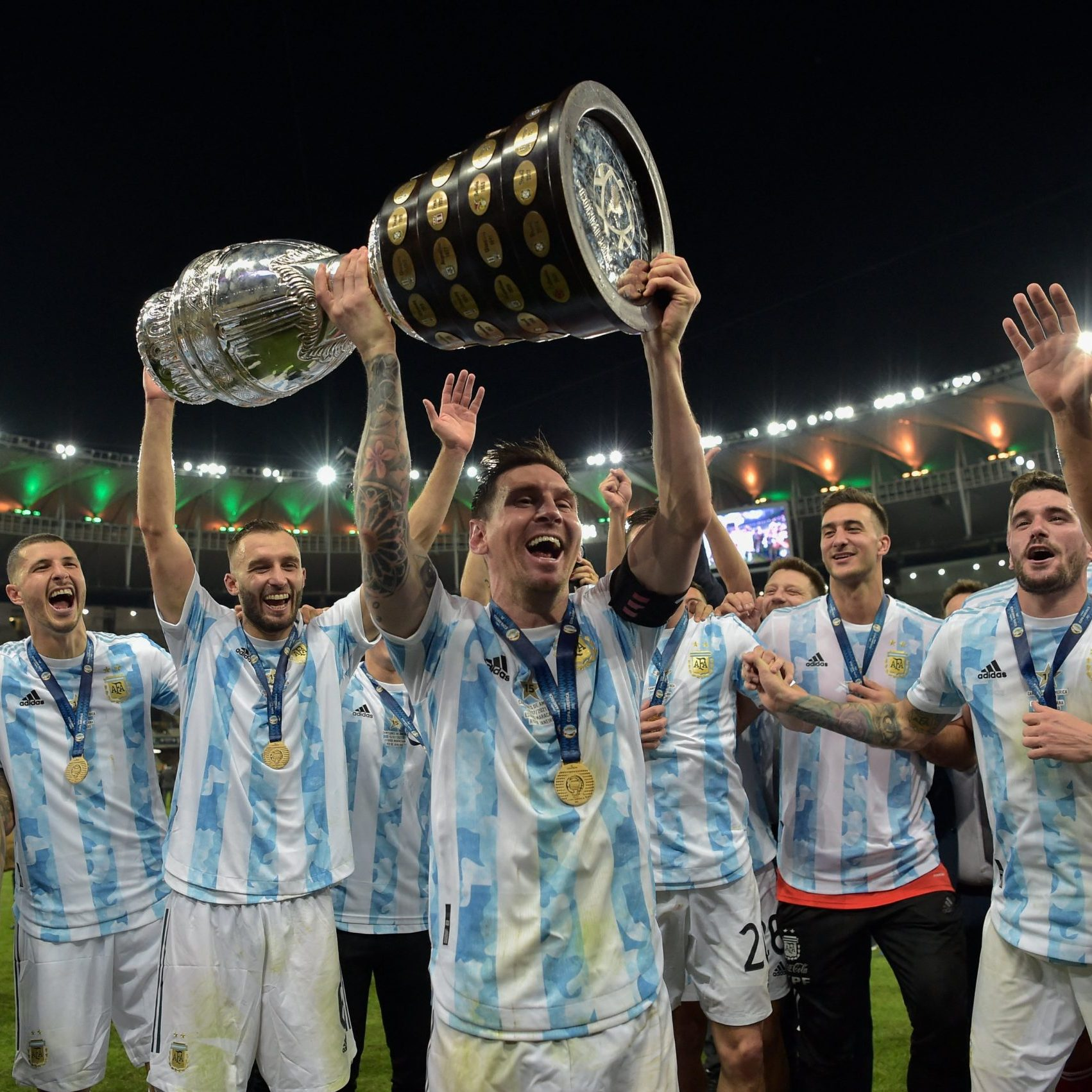 Image depicting lionel messi, as in Argentina are 2021 Copa America champions