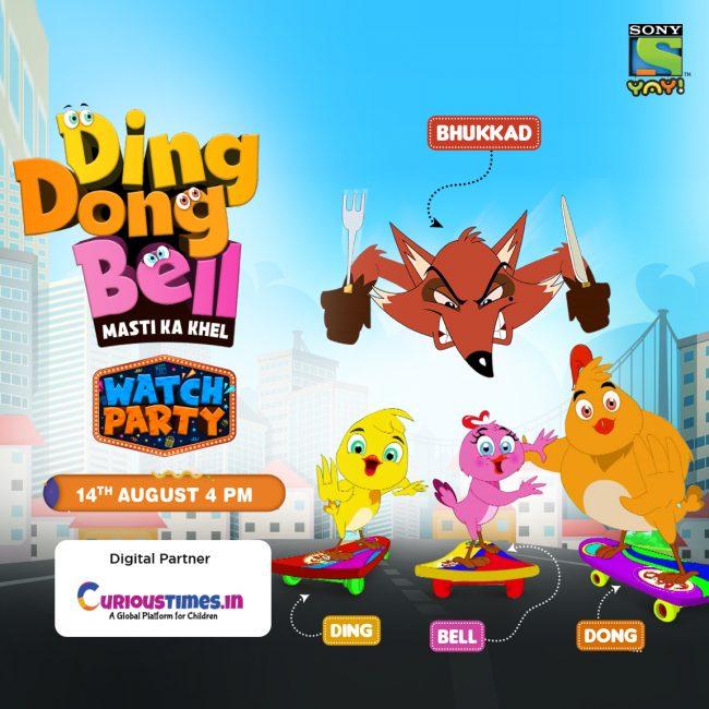 Image indicating Sony YAY ! Ding Dong Bell- Masti Ka Khel Watch Party