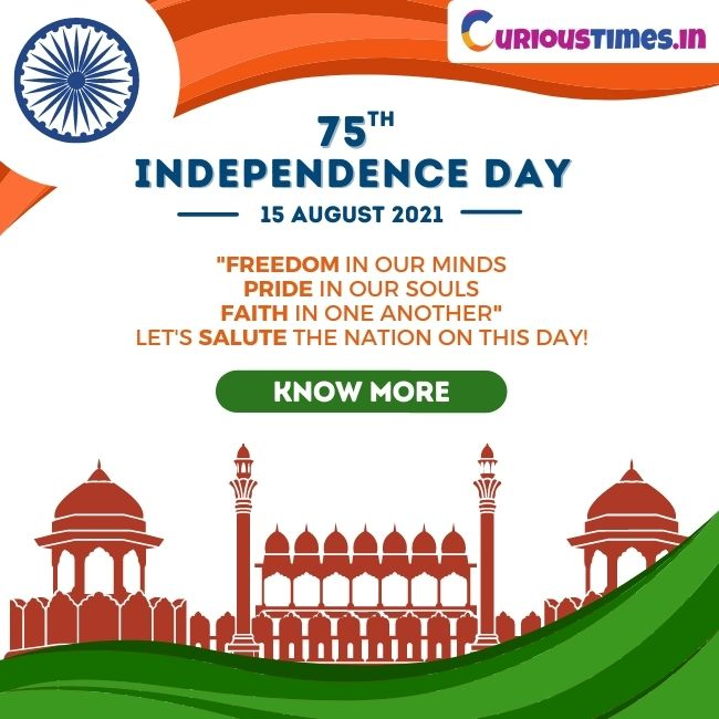 image depicting 75th Independence Day! Celebrate with Curious Times.