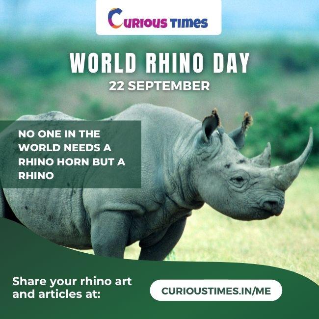 Image depicting World Rhino Day - 22 September