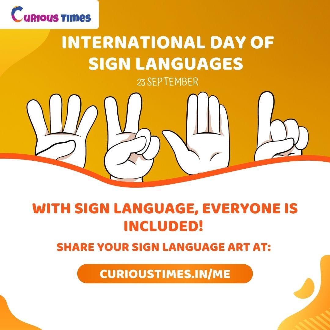 Image depicting International Day of Sign Languages - 23 September
