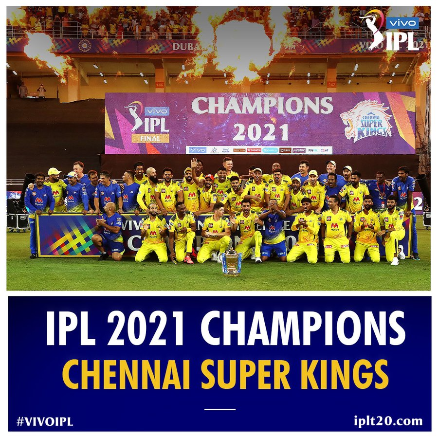 image depicting Chennai Super Kings are the 2021 IPL champions