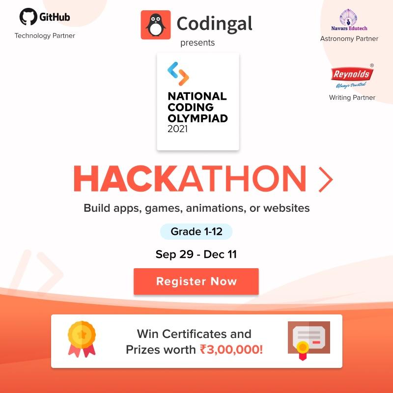 Image depicting National Coding Olympiad 2021 Hackathon